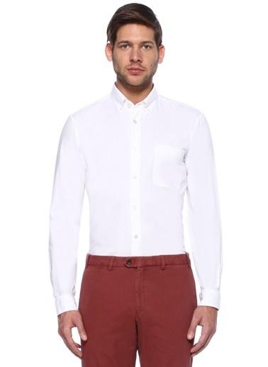 Gieves & Hawkes Uzun Kollu Klasik Gömlek Beyaz